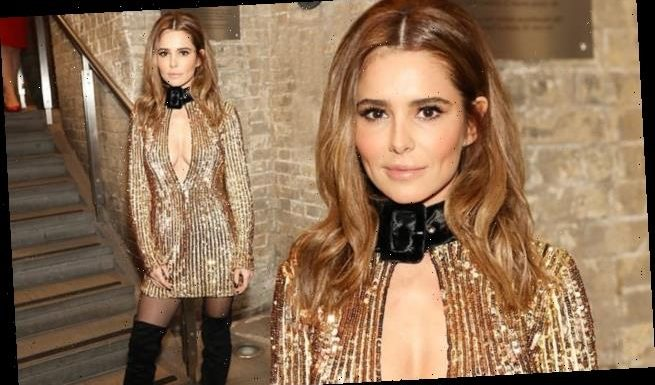 Cheryl brings glamour to the Attitude Awards as in gold dress