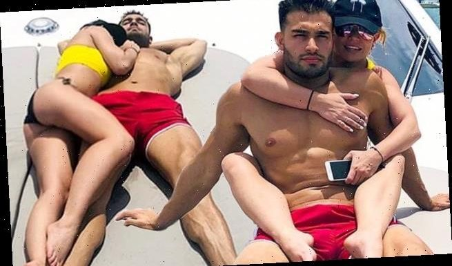 Britney Spears shares snaps of herself cuddling up with Sam Asghari