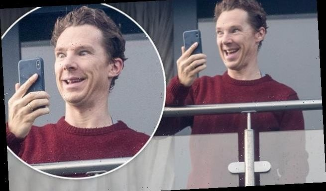 Benedict Cumberbatch puts on animated display as FaceTimes family
