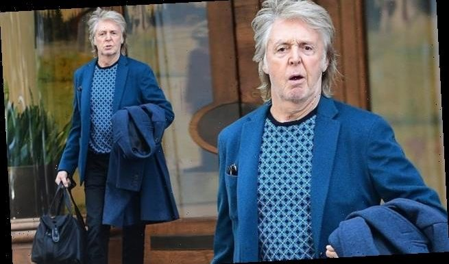 Paul McCartney looks every inch the handsome silver fox
