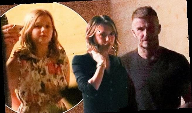 David Beckham reunited with wife Victoria after THOSE hot tubs snaps