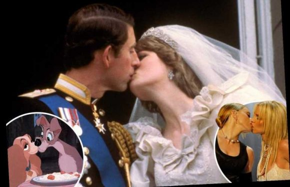 Charles and Diana's wedding day balcony kiss is Brits' most as poll reveals our most memorable smooches – The Sun