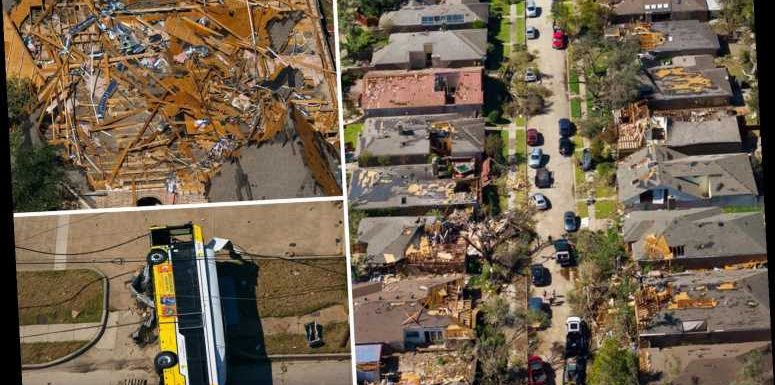 Devastating images show homes ripped to shreds in 111mph Dallas tornado as killer storms batter US states – The Sun