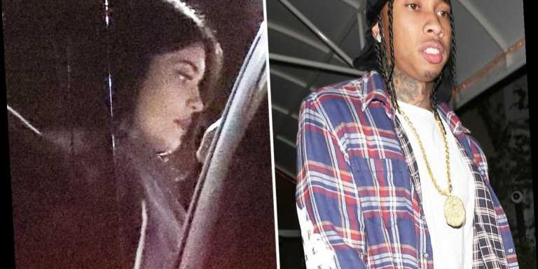 Kylie Jenner pictured at the same hotel as ex Tyga but denies they're back together as she breaks silence on split with Travis Scott