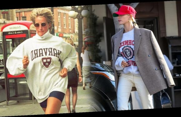 Hailey Baldwin Wore Princess Diana's Sweatshirt of Choice and the Shoes of Our Dreams