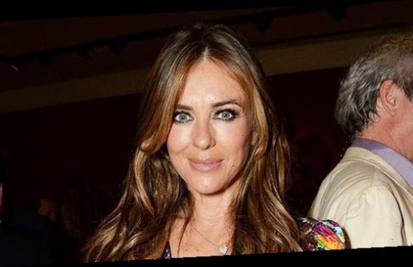Elizabeth Hurley, 54, Shows Off Incredibly Toned Figure In Sexy Striped Bikini From Swimwear Brand