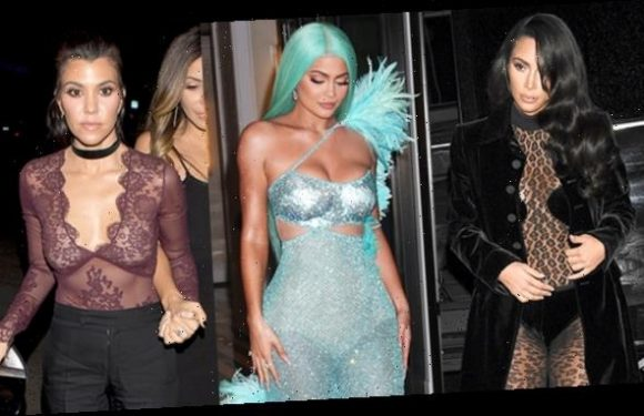 27 Sexy Photos Of The KarJenners In Sheer Outfits: Kylie, Kim & More