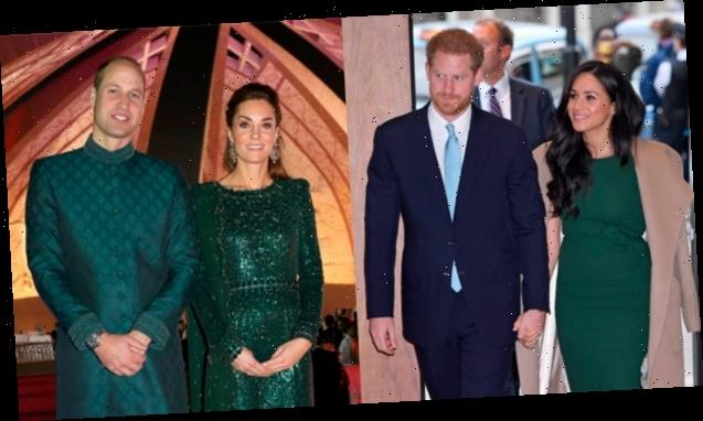 Meghan Markle & Kate Middleton Both Stun In Emerald Green Dresses At Events With Husbands