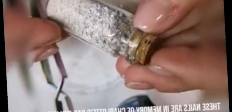 English Bride Decorates Her Wedding Nails with Late Father's Ashes
