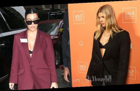 Scott Disick's Favorite Women Sofia Richie & Kourtney Kardashian Both Rock Same Bra-Under-Jacket Look