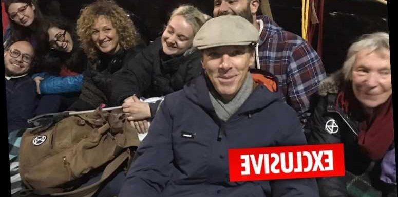 Extinction Rebellion London – Clueless Benedict Cumberbatch joins eco-warriors frontline despite advertising gas guzzling motor in May – The Sun