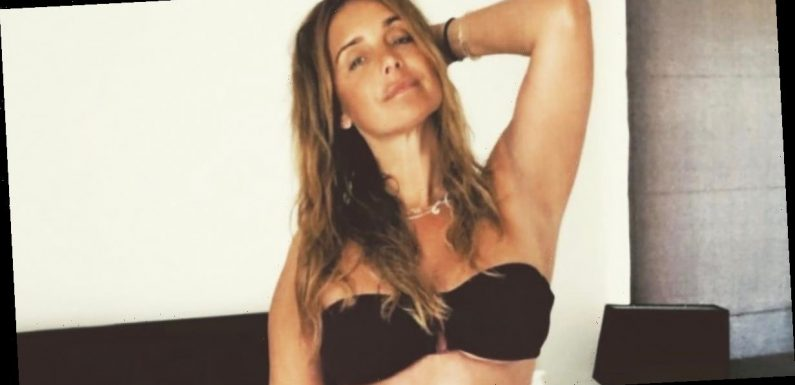 Louise Redknapp drops jaws as she spills out of barely-there underwear