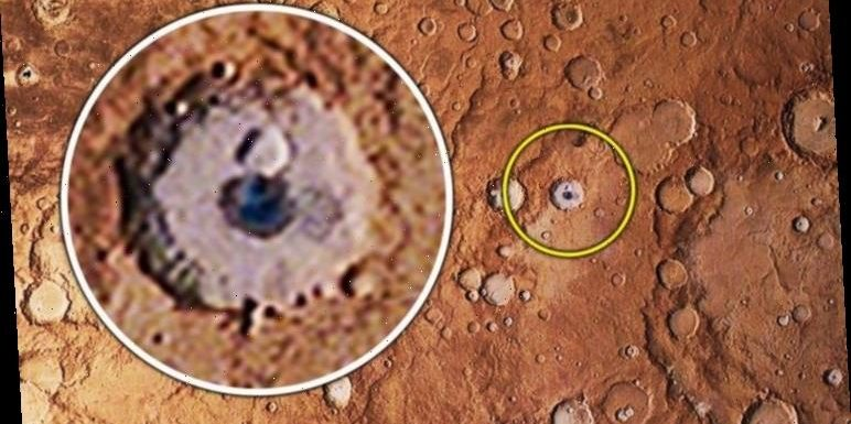 UFO sighting: NASA conspiracy claims after 'alien space base' spotted in Mars crater