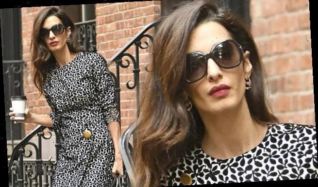 Amal Clooney steps out on her way to Columbia Law School in New York