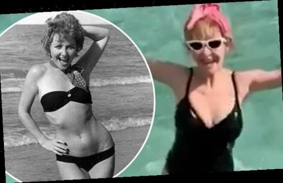 Lulu, 71, poses in black swimsuit while on a sun-kissed holiday