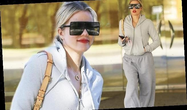 Khloe Kardashian proves that she can even turn heads in a tracksuit