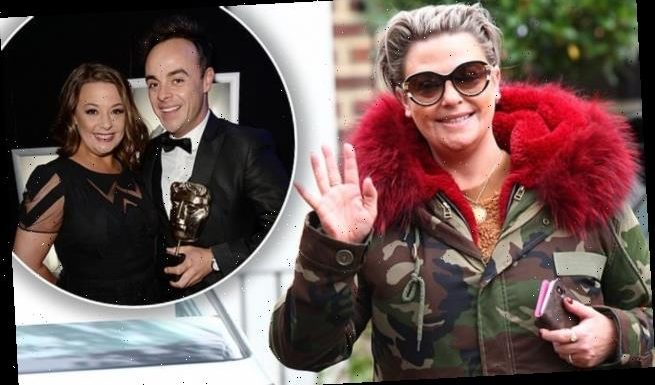 Lisa Armstrong beams while out in Blackpool ahead of Strictly show