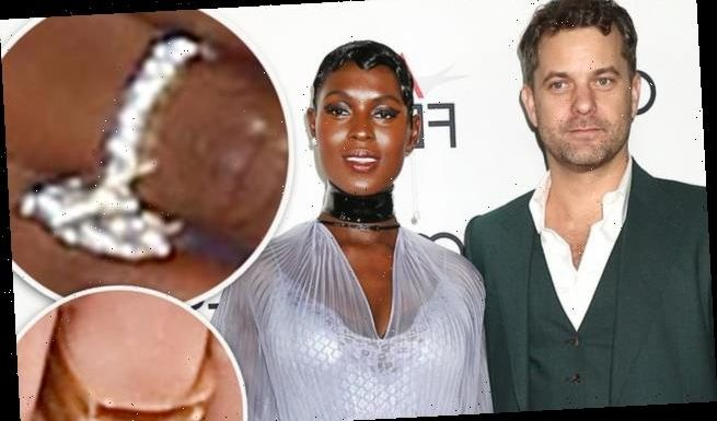 Joshua Jackson and Jodie Turner-Smith rings on their wedding fingers
