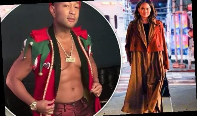 John Legend gets in holiday spirit with sexy striptease in elf costume
