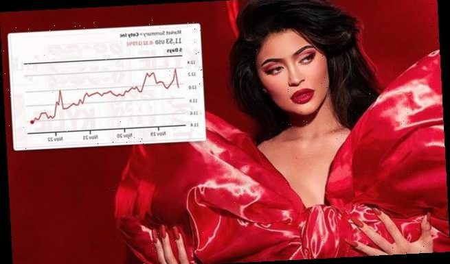 Kylie Jenner's cosmetics stock drops to a new month low