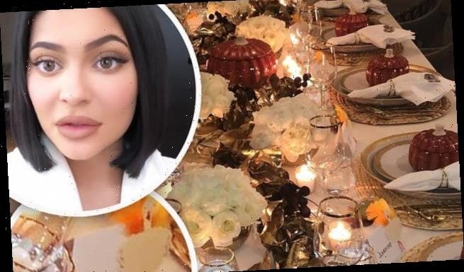 Kylie Jenner reserves a seat for 'BEYONCE' at her Friendsgiving dinner