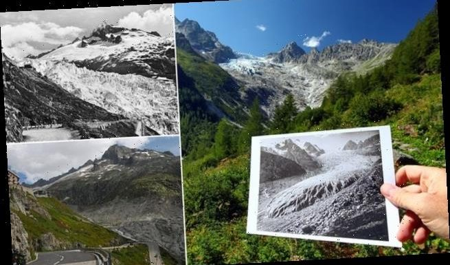 Photos of Swiss glaciers reveal how the ice has melted since the 1800s