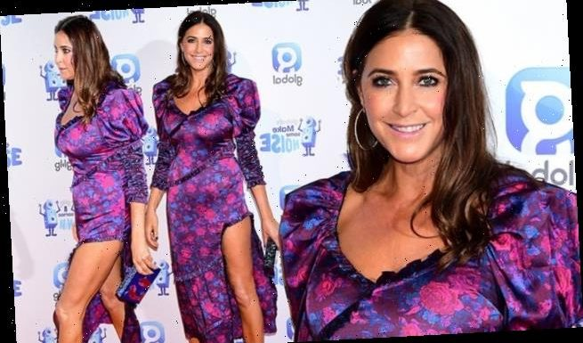 Lisa Snowdon puts on a VERY leggy display at Global's Make Some Noise