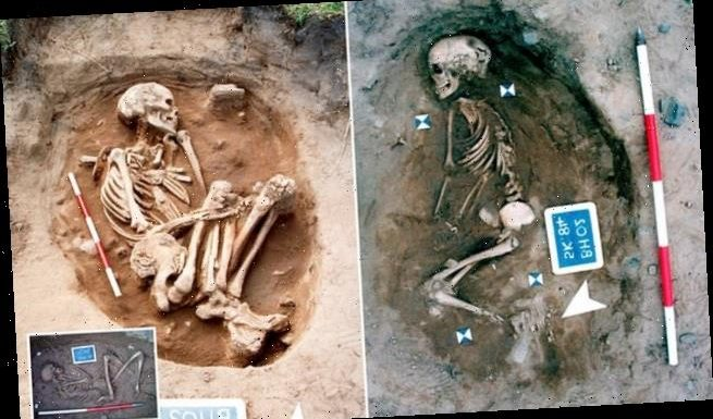 Skeletons buried near Bamburgh Castle were the remains of visitors