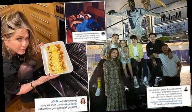 Celebrities get in on the Thanksgiving holiday spirit on social media