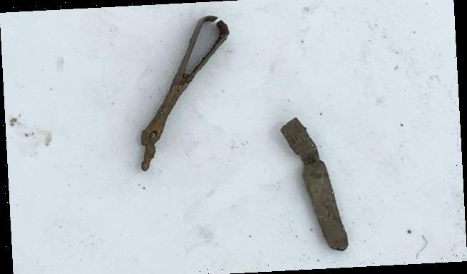Roman grooming set discovered at the bottom of a river in Kent