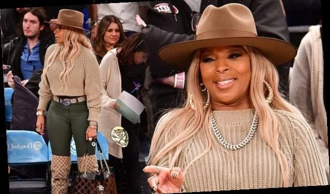 Mary J. Blige steps out in £1,240 Gucci boots for a basketball game