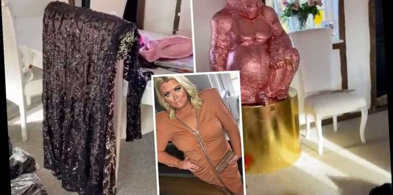 Inside Gemma Collins' pink palace with giant gorilla statue, golden pig – and clothes everywhere – The Sun