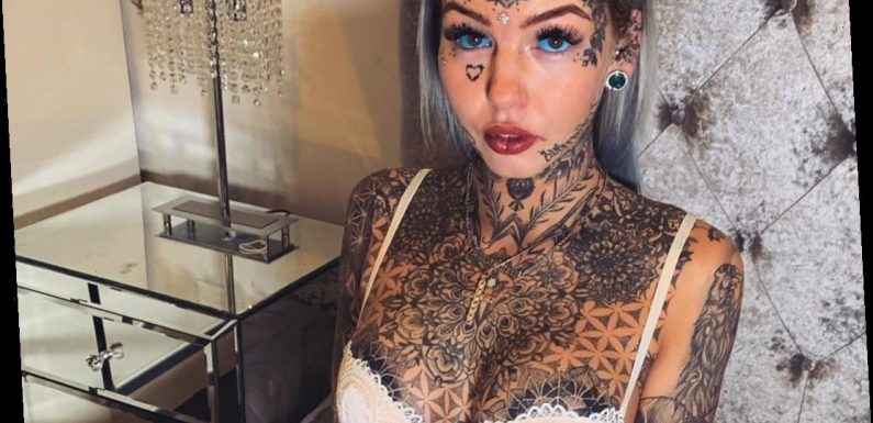 'Dragon Girl', 24, who has spent over £20K modifying her body goes BLIND for three weeks after tattooing eyeballs blue – The Sun