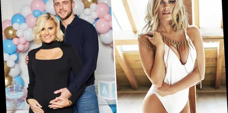 Towie's Danielle Armstrong stuns in white swimsuit following announcement she's pregnant – The Sun