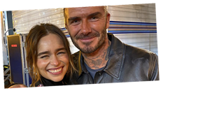 David Beckham Met the Mother of Dragons and He Was Seriously Starstruck