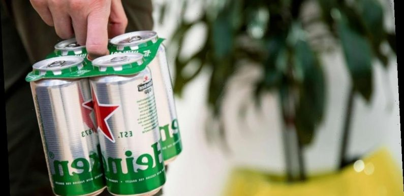 Heineken becomes latest brewer to ditch plastic six-pack rings in UK