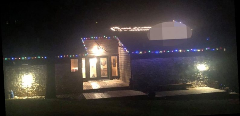 Woman's X-rated Christmas lights display on rooftop leaves neighbours stunned