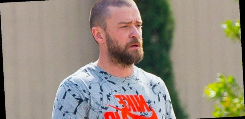 Justin Timberlake shows off his wedding ring after holding hands with co-star
