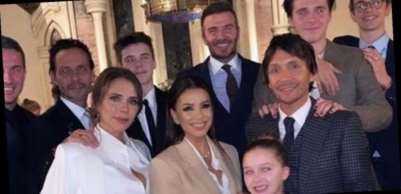 Beckhams go ahead with Harper and Cruz's christening as 'family feud rages'