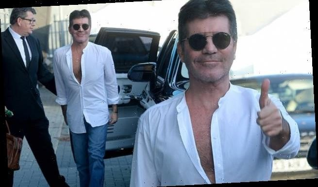 Simon Cowell displays weight loss as he steps out in unbuttoned shirt