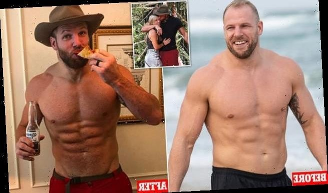 I'm A Celebrity's James Haskell displays his jungle weight loss