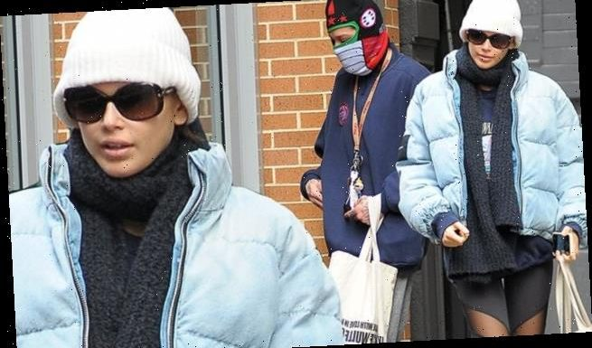 Kaia Gerber and boyfriend Pete Davidson brave the NYC cold