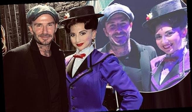 David Beckham is starstruck after he gets to meet Mary Poppins