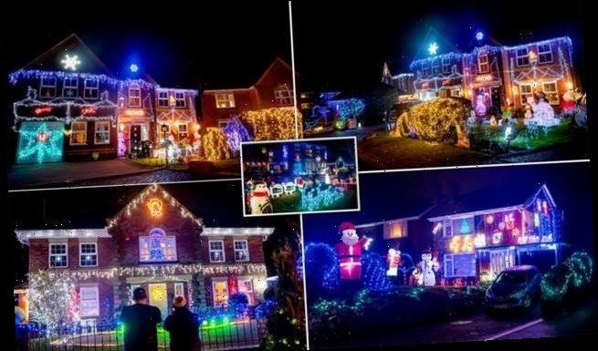 Neighbours transform over 100 homes into a winter wonderland clad