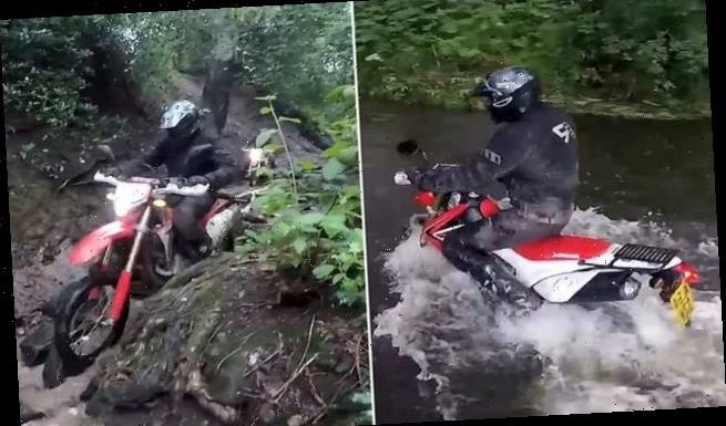 Police force unleashes team of officers with all-terrain scramblers