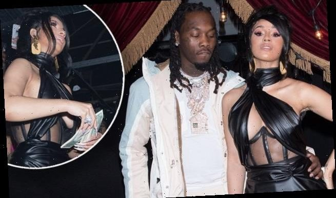 Cardi B puts on a busty display during husband Offset's WILD birthday