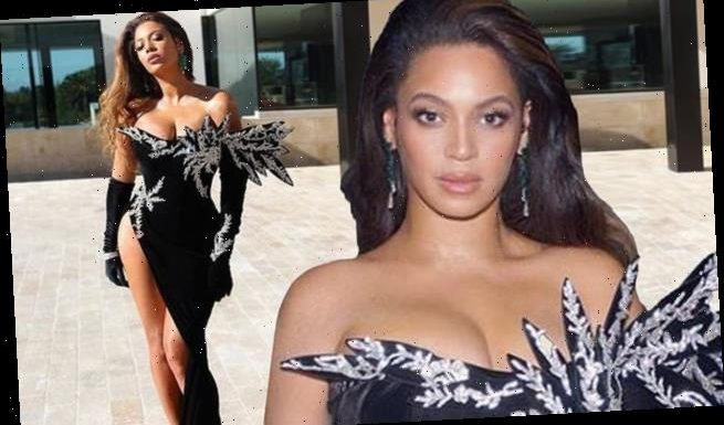 Beyonce shows off her stunning look for Diddy's 50th birthday party