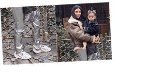 Kim Kardashian Wore the New Space-Age Yeezys, and We're Not Sure How We Feel About Them