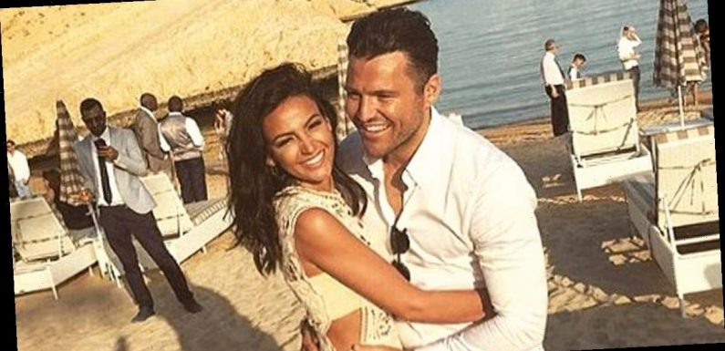 Michelle Keegan and Mark Wright cosy up at Brassic wrap party
