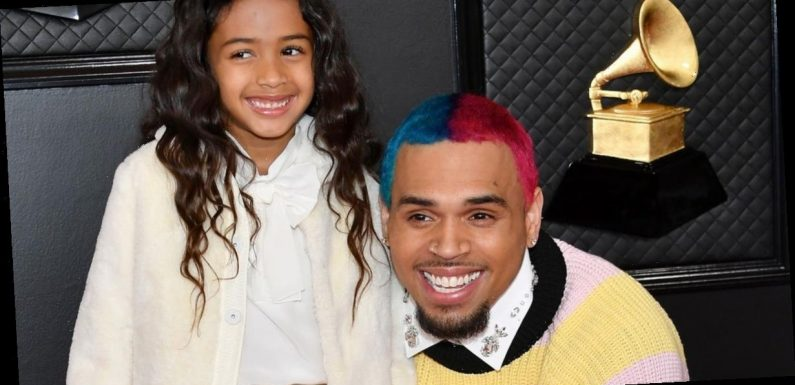 Chris Brown takes cute daughter Royalty as his date to Grammy Awards